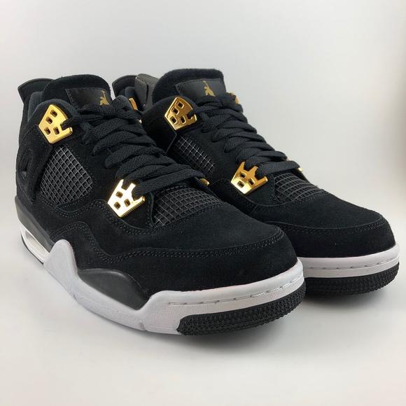 promo code 7b381 efe81 Jordan Retro 4 Black Metallic Gold